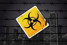 Sinal de rua de Biohazard Ilustração do Vetor