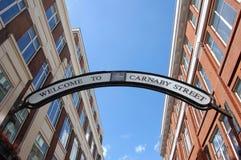 Sinal de rua de Carnaby Fotos de Stock Royalty Free