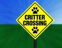 Sinal de rua do cruzamento do Critter Ilustração do Vetor