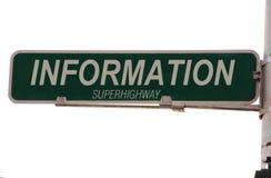 Sinal de rua do Superhighway de informação Foto de Stock Royalty Free
