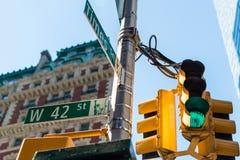 Sinal de rua do Times Square Imagem de Stock Royalty Free