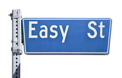 Sinal de rua fácil Foto de Stock Royalty Free