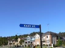 Sinal de rua fácil Fotografia de Stock