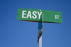 Sinal de rua fácil Fotografia de Stock Royalty Free