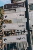 Sinal de rua Lara Croft de Porto imagens de stock royalty free