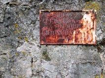 Sinal de rua oxidado Imagens de Stock Royalty Free