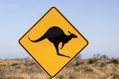 Sinal de salto do canguru Fotografia de Stock
