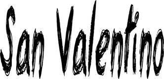 Sinal de San Valentino imagens de stock