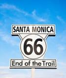 Sinal de Santa Monica Foto de Stock
