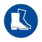 Sinal de segurança da proteção do pé do desgaste Imagem de Stock Royalty Free