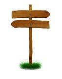 Sinal de sentido de madeira Fotografia de Stock
