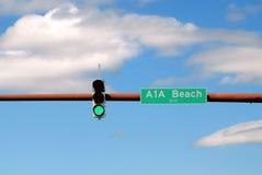 Sinal de sinal verde Foto de Stock Royalty Free