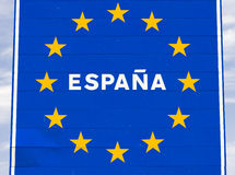 Sinal de Spain Foto de Stock