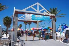 Sinal de Sugar Sand Festival do cais 60 Imagens de Stock Royalty Free
