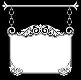 Sinal de suspensão antigo Fotografia de Stock Royalty Free