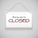 Sinal de suspensão fechado Foto de Stock Royalty Free