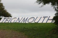 Sinal de Teignmouth Imagens de Stock Royalty Free