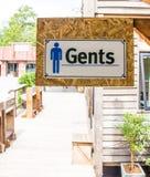 Sinal de toaletes públicos Foto de Stock