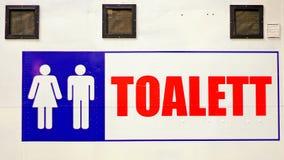 Sinal de Toilette Fotografia de Stock