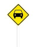 Sinal de tráfego do carro em um branco Fotografia de Stock