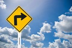 Sinal de tráfego e céu azul agradável Imagens de Stock Royalty Free