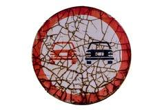 Sinal de tráfego isolado no fundo branco Imagem de Stock