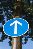 Sinal de tráfego reto do sustento Fotografia de Stock Royalty Free