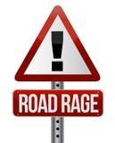 sinal de tráfego da estrada com uma raiva da estrada Fotografia de Stock