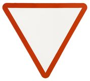 Sinal de tráfego de advertência do triângulo Imagem de Stock Royalty Free