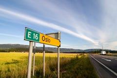 Sinal de tráfego de Oslo Imagem de Stock Royalty Free