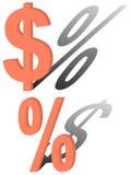 Sinal de um dólar Fotografia de Stock Royalty Free