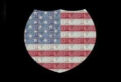 Sinal de um estado a outro da bandeira Fotografia de Stock