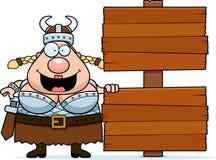 Sinal de Valkyrie dos desenhos animados Fotografia de Stock