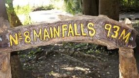 Sinal de Victoria da cachoeira, Zimbabwe, África Foto de Stock Royalty Free