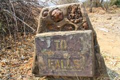 Sinal de Victoria Falls Imagem de Stock Royalty Free