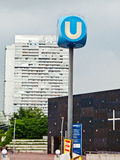 Sinal de Viena U-Bahn Imagem de Stock Royalty Free