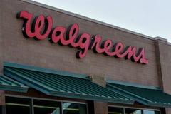 Sinal de Walgreens fotos de stock