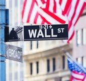 Sinal de Wall Street Imagem de Stock Royalty Free