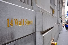Sinal de Wall Street, Manhattan, New York City Foto de Stock Royalty Free