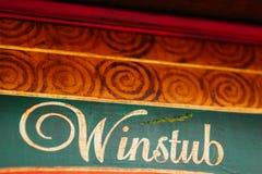Sinal de Winstub Fotografia de Stock