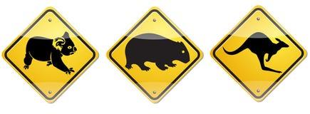 Sinal de Wombat Fotos de Stock Royalty Free