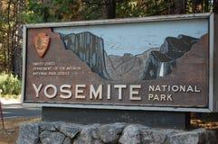 Sinal de Yosemite Fotografia de Stock Royalty Free