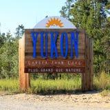 Sinal de Yukon Fotos de Stock Royalty Free