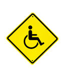 Sinal deficiente do ícone em um branco Imagem de Stock Royalty Free