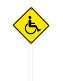 Sinal deficiente do ícone em um branco Imagens de Stock Royalty Free