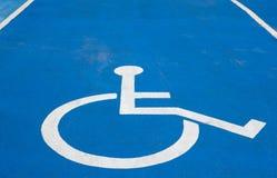 Sinal deficiente do estacionamento Foto de Stock Royalty Free