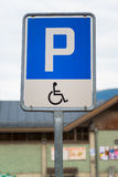 Sinal deficiente do estacionamento foto de stock