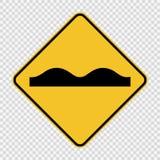 sinal desigual da superfície de estrada do símbolo no fundo transparente ilustração do vetor