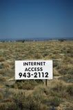 Sinal do acesso de Internet fotografia de stock
