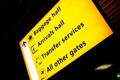 Sinal do aeroporto Fotografia de Stock